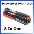 Wholesale 8 in 1 Multi Screwdriver With LED Portable Torch S...
